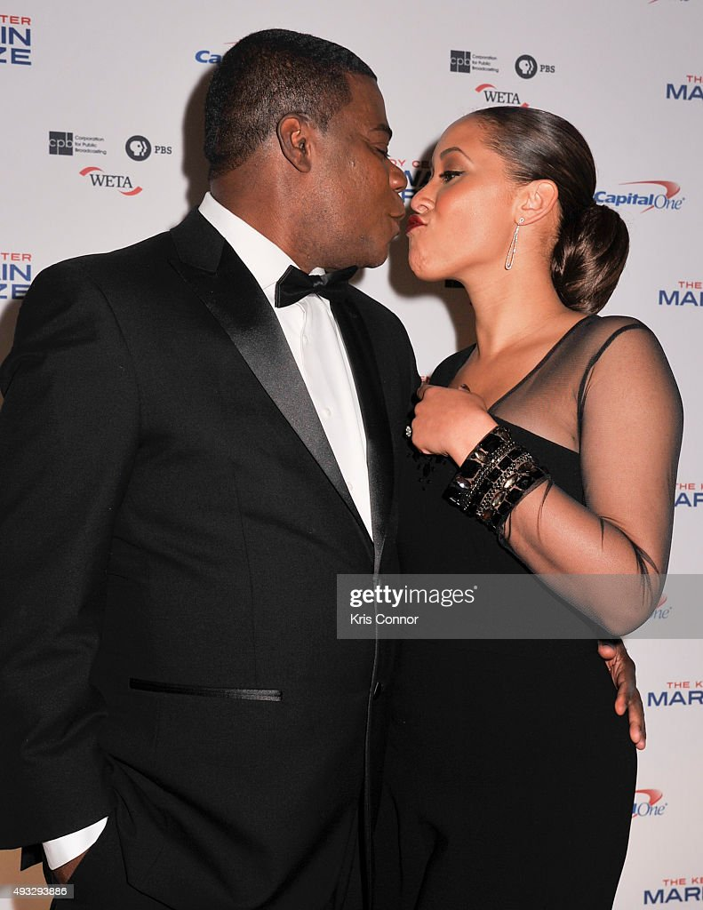 Actress and comedian Tracy Morgan and wife Megan Morgan pose on the red carpet during the 18th Annual Mark Twain Prize For Humor honoring Eddie...