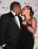 Actress and comedian Tracy Morgan and wife Megan Wollover pose on the red carpet during the 18th Annual Mark Twain Prize For Humor honoring Eddie...