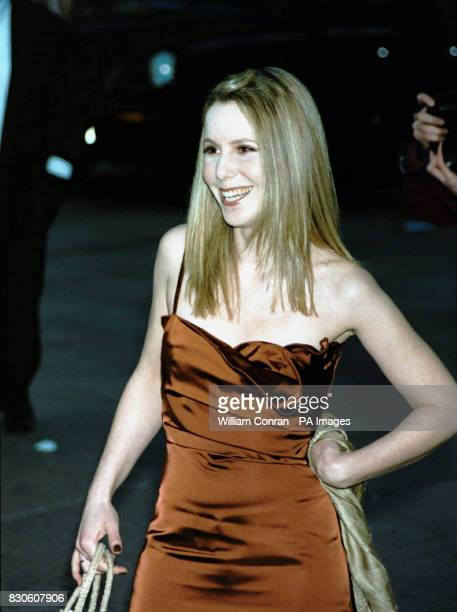 Actress and comedienne Sally Phillips arriving for the UK premiere of 'Bridget Jones Diary' at the Empire in London's Leicester Square