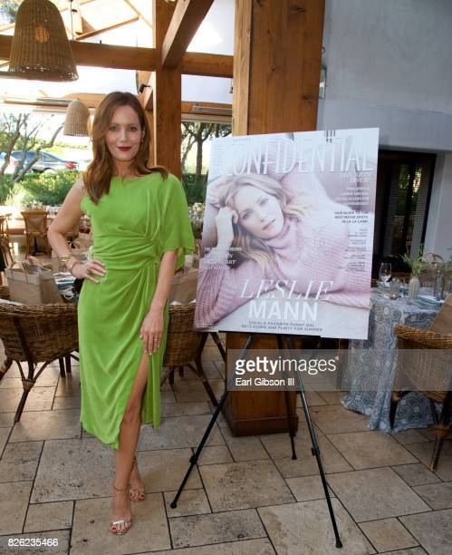 Actress and cover star Leslie Mann attends the Los Angeles Confidential Celebrates Fashion Island's 50th Anniversary at Fashion Island Shopping...
