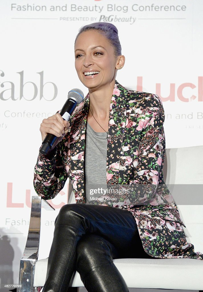 Actress and Creative Director of House of Harlow 1960, Nicole Richie speaks onstage during Lucky
