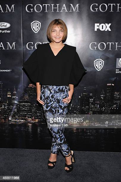 Actress and dancer Camren Bicondova attends the 'Gotham' Series Premiere at The New York Public Library on September 15 2014 in New York City