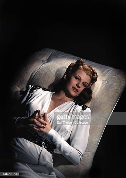 Actress and dancer Rita Hayworth poses for a portrait circa 1944 in Los Angeles California