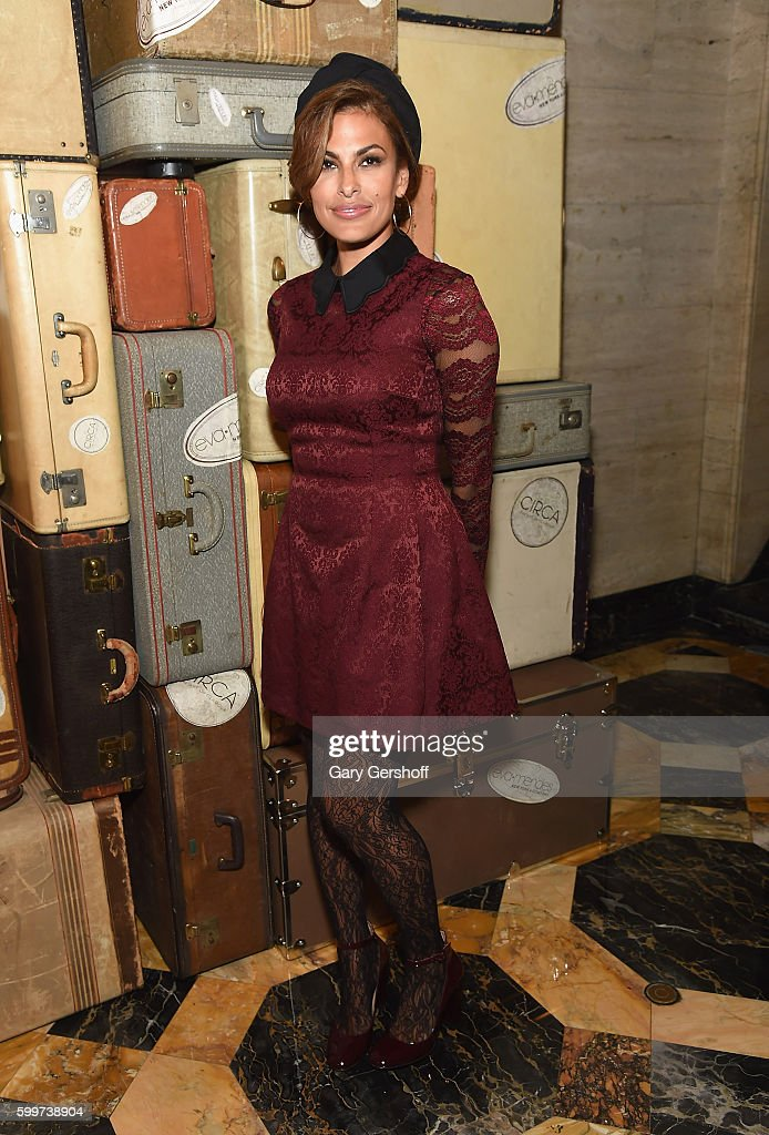 Actress and designer Eva Mendes attends the Eva Mendes X New York & Company FW 16 Show at Academy Mansion on September 6, 2016 in New York City.