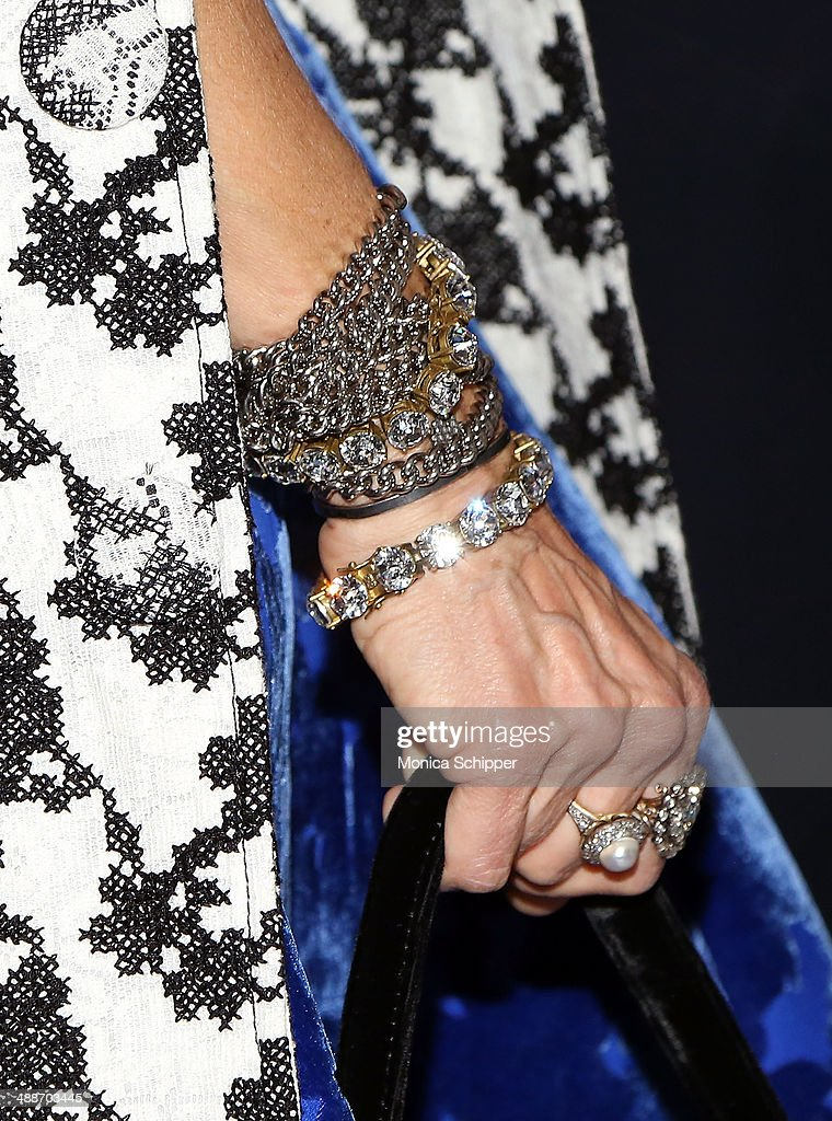 Actress and designer Sarah Jessica Parker (jewelry detail) attends the 2014 CLIO Image Awards at The Pierre Hotel on May 7, 2014 in New York City.