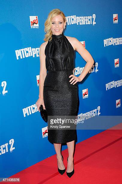 Actress and Director Elizabeth Banks attends the Pitch Perfect 2 Paris Premiere at UGC Cine Cite on April 28 2015 in Paris France