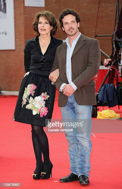 Actress and director Fanny Ardant and actor Francesco Montanari attend the 'Chimeres Absentes' Premiere during the 5th International Rome Film...