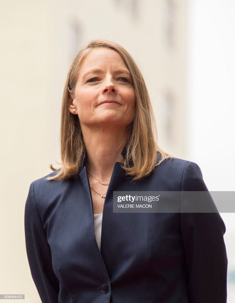 Actress and director Jodie Foster attends the ceremony honoring her with a star on Hollywood Walk of Fame, in Hollywood, California, on May 4 2016. / AFP / VALERIE