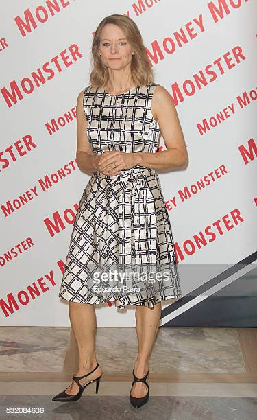 Actress and director Jodie Foster attends the 'Money Monster' photocall at Villamagna hotel on May 18 2016 in Madrid Spain