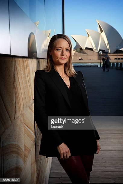 Actress and director Jodie Foster poses during a photo shoot in Sydney New South Wales She was in town to promote her new film 'Money Monsters'