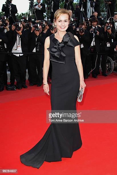 Actress and Director Sandrine Bonnaire attends the Premiere of 'On Tour' at the Palais des Festivals during the 63rd Annual International Cannes Film...