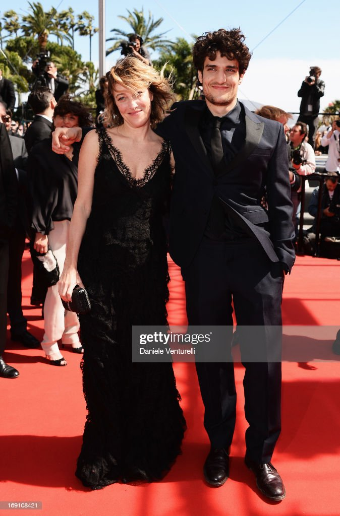 Actress and director Valeria Bruni Tedeschi and actor <a gi-track='captionPersonalityLinkClicked' href=/galleries/search?phrase=Louis+Garrel&family=editorial&specificpeople=868484 ng-click='$event.stopPropagation()'>Louis Garrel</a> attend the Premiere of 'Un Chateau En Italie' during the 66th Annual Cannes Film Festival at the Palais des Festivals on May 20, 2013 in Cannes, France.