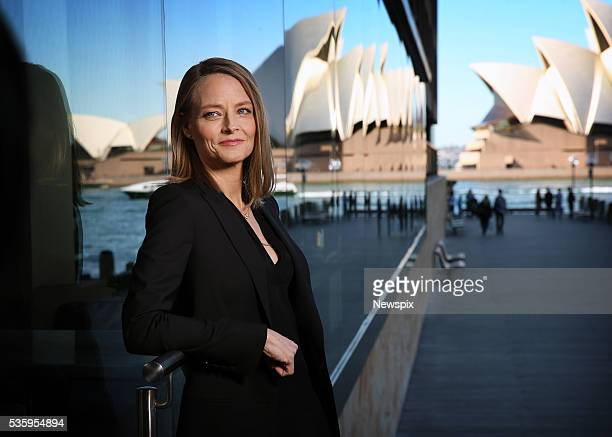 Actress and direstor Jodie Foster poses during a photo shoot in Sydney New South Wales She was in town to promote her new film 'Money Monsters'