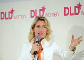 Actress and DLD Chairwoman Maria Furtwaengler attends the Digital Life Design women conference at the Centre for New Technologies at Deutsches Museum...