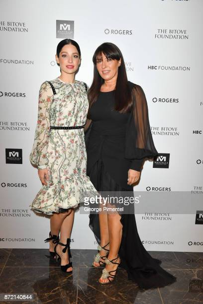 Actress and event MC Anna Hopkins and CEO of Giambattista Valli Sandrine Valverde attend the HBC Foundation presentation of Haute Affair in support...