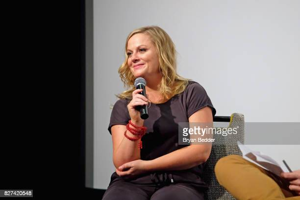 Actress and executive producer Amy Poehler speaks onstage during Vulture Hulu's screening of 'Difficult People' on August 7 2017 in New York City