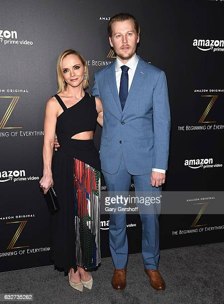 Actress and executive producer Christina Ricci and actor David Hoflin attend Amazon's new series 'Z The Beginning of Everything' premiere at SVA...
