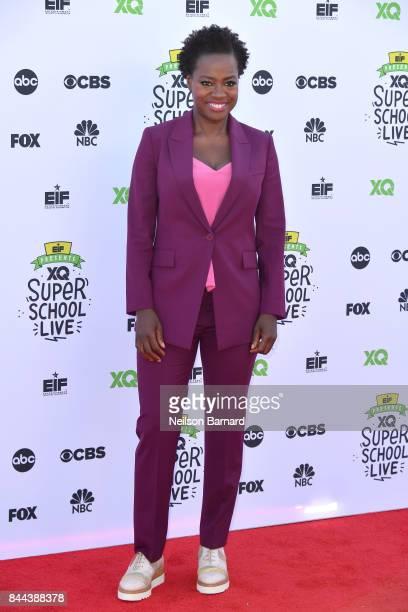 Actress and Executive Producer of EIF Presents XQ Super School Live Viola Davis attends XQ Super School Live presented by EIF at Barker Hangar on...