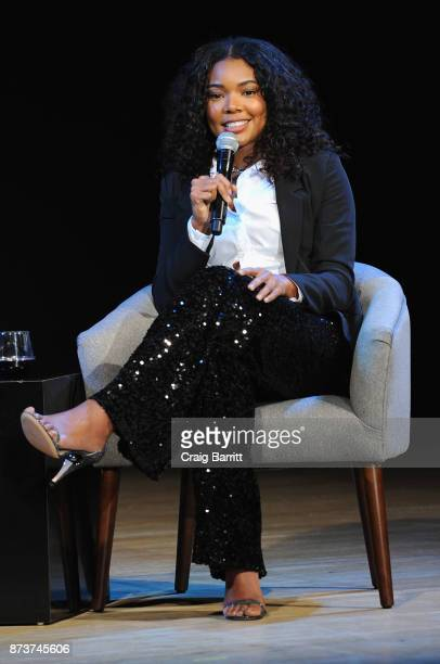 Actress and fashion designer at New York CompanyGabrielle Union speaks onstage during Glamour Celebrates 2017 Women Of The Year Live Summit at...