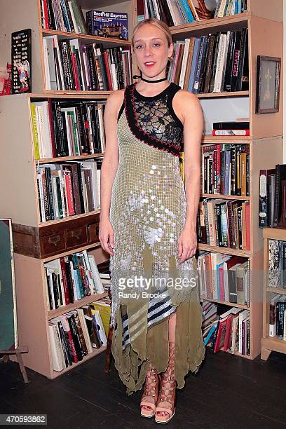 Actress and fashion designer Chloe Sevigny attends the 2015 Morbid Anatomy Museum gala on April 21 2015 in the Brooklyn borough of New York City