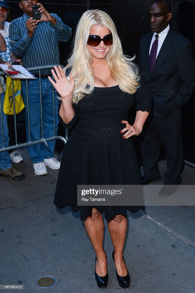 Actress and fashion designer Jessica Simpson sighting at Times Square Studios on September 11, 2012 in New York City.