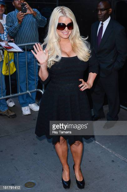 Actress and fashion designer Jessica Simpson sighting at Times Square Studios on September 11 2012 in New York City