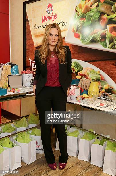 Actress and Fashion Icon Molly Sims adds style to Wendy's #NewSaladCollection at an exclusive fashion event to celebrate their new Asian Cashew...
