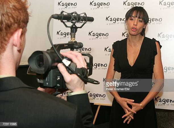 Actress and filmmaker Drena DeNiro speaks during an interview Kagenoorg benefit at Guastavino's October 30 2006 in New York City