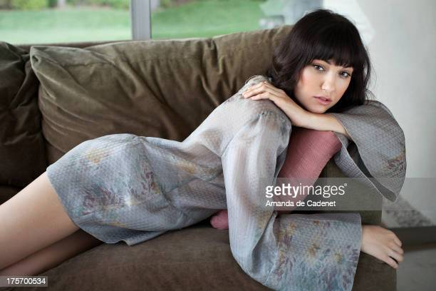 Actress and former adult film star Sasha Grey is photographed for Elle Magazine UK on April 1 2013 in Los Angeles California
