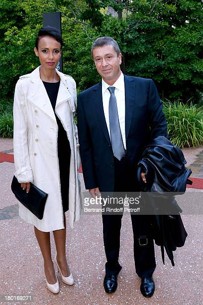 Actress and former Miss France Sonia Rolland and Bernard Duton attend 'Friends of Quai Branly Museum Society' dinner party at Musee du Quai Branly on...