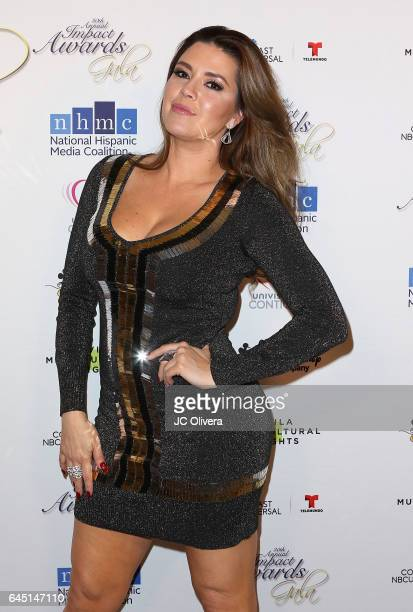 Actress and former Miss Universe Alicia Machado attends the 20th Annual National Hispanic Media Coalition Impact Awards Gala at Regent Beverly...