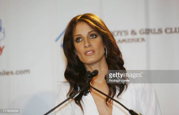 Actress and former Miss Universe Dayanara Torres takes a break from filming her new MyNetworkTV primetime drama 'Watch Over Me' to unveil her first...