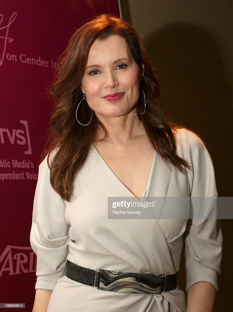 Actress and Founder <a gi-track='captionPersonalityLinkClicked' href=/galleries/search?phrase=Geena+Davis&family=editorial&specificpeople=209423 ng-click='$event.stopPropagation()'>Geena Davis</a> attends the <a gi-track='captionPersonalityLinkClicked' href=/galleries/search?phrase=Geena+Davis&family=editorial&specificpeople=209423 ng-click='$event.stopPropagation()'>Geena Davis</a> Institute On Gender In Media cocktail reception at SLS Hotel on November 13, 2012 in Beverly Hills, California.