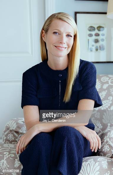 Actress and founder of Goopcom and Juice Beauty makeup Gwyneth Paltrow is photographed for Los Angeles Times on February 3 2016 in Santa Monica...