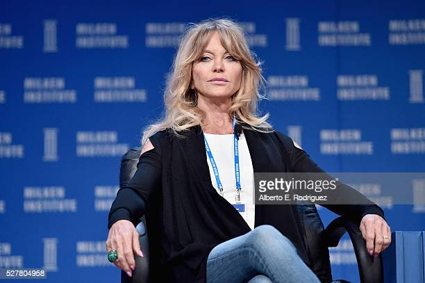 Actress and Founder of Hawn Foundation Goldie Hawn speaks onstage during 2016 Milken Institute Global Conference at The Beverly Hilton on May 03 2016...