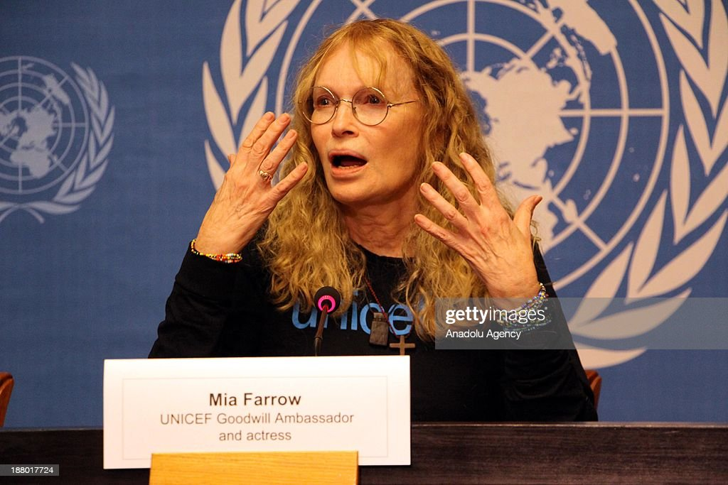 US actress and Goodwill ambassador for UNICEF Mia Farrow speaks during a press conference about the reports on her mission to the Central African Republic at the United Nations European headquarters on November 14, 2013 in Geneva, Switzerland. Farrow urged the international community on Thursday to take urgent action to stem violence in the Central African Republic.