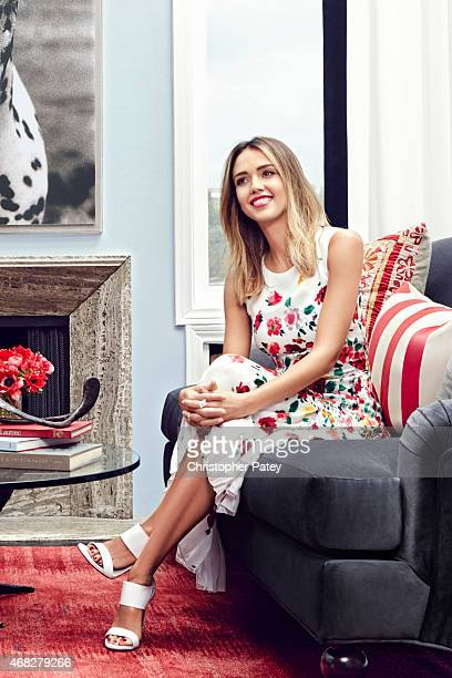 Actress and Honest Company founder Jessica Alba is photographed inside her newly designed vacation rental home designed by Consort Design for Domaine...