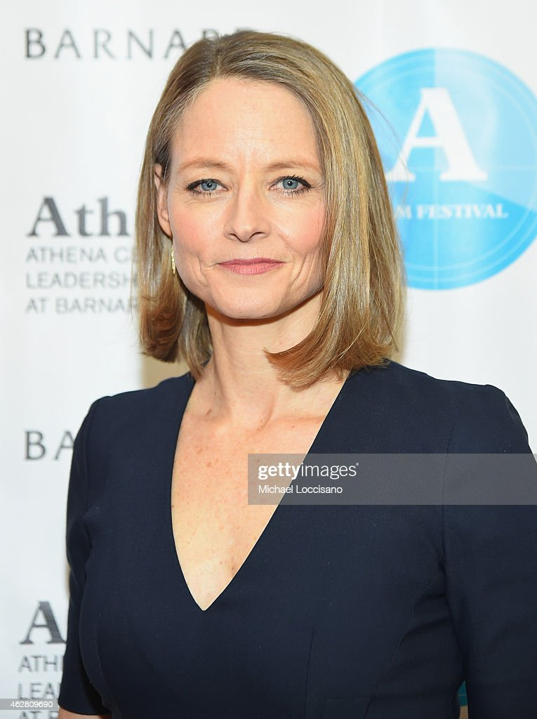 Actress and honoree Jodie Foster attends the opening night of the 2015 Athena Film Festival at Barnard College on February 5 2015 in New York City