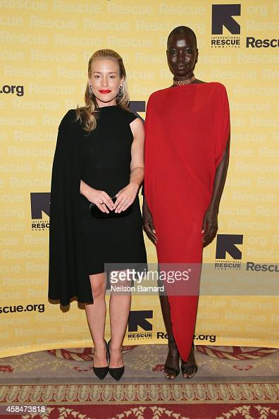 Actress and IRC Voice Piper Perabo and model and IRC Voice Nykhor Paul attend the Annual Freedom Award Benefit Event hosted by International Rescue...