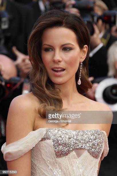 Actress and jury member Kate Beckinsale attends the premiere of 'Wall Street Money Never Sleeps' held at the Palais des Festivals during the 63rd...