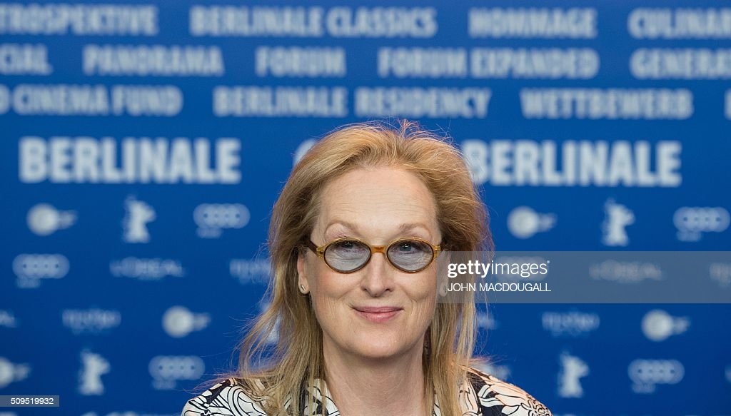 US actress and jury president of the Berlinale Film Festival Meryl Streep attends a press conference in Berlin on February 11, 2016. The 66th Berlin film festival starts on February 11, 2016 with a spotlight on Europe's refugee crisis. / AFP / John MACDOUGALL