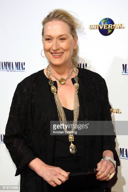 Actress and lead cast member Meryl Streep attends the Australian Premiere of 'Mamma Mia The Movie' at Hoyts Melbourne Central on July 9 2008 in...