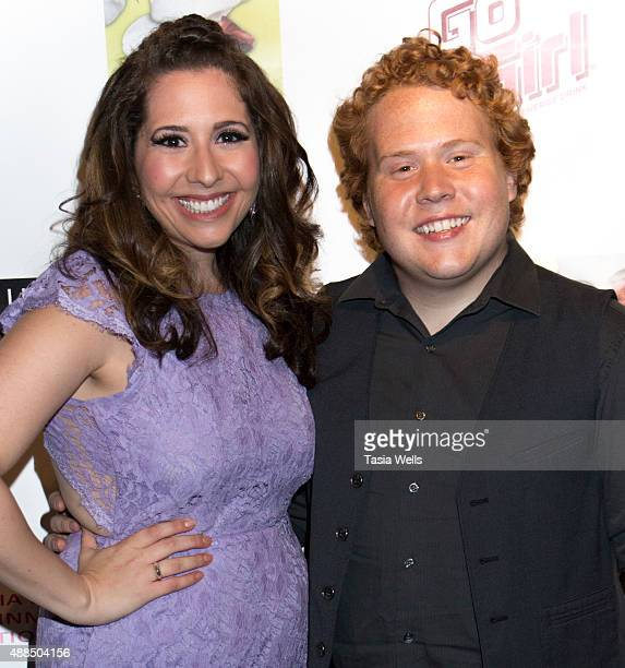 Actress and Liv Out Loud creator Ashley Gianni and actor Jimmy Bellinger pose for portrait at Premiere Party For 'Liv Out Loud' at Akbar on September...