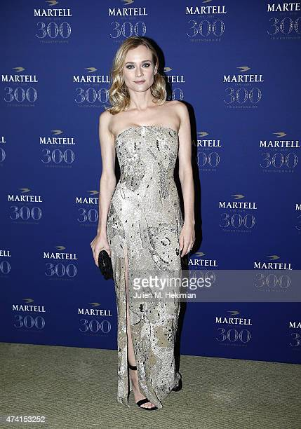 Actress and Martell Tricentenaire Ambassador Diane Kruger is pictured arriving at Martell Cognac's 300th anniversary event at the iconic Palace of...