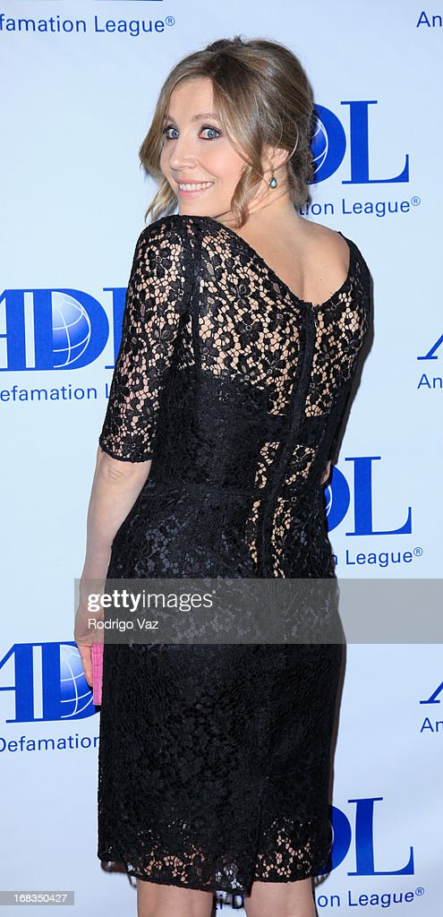 Actress and M.C. Sarah Chalke arrives at the Anti-Defamation League Centennial Entertainment Industry Awards Dinner at The Beverly Hilton Hotel on May 8, 2013 in Beverly Hills, California.