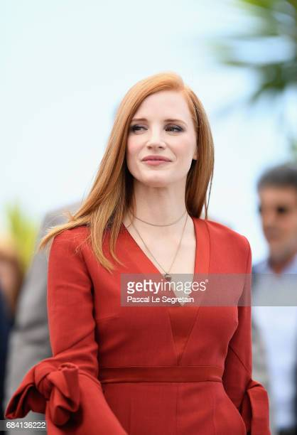 US actress and member of the Feature Film jury Jessica Chastain attends the Jury photocall during the 70th annual Cannes Film Festival at Palais des...