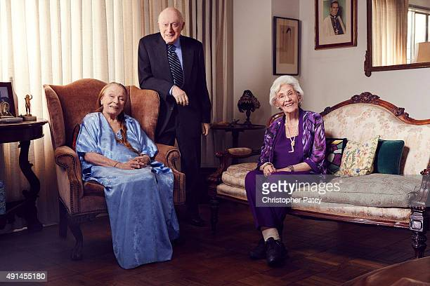 Actress and mezzosoprano singer Patricia Morison actor producer and director Norman Lloyd and actress Connie Sawyer are photographed for The...