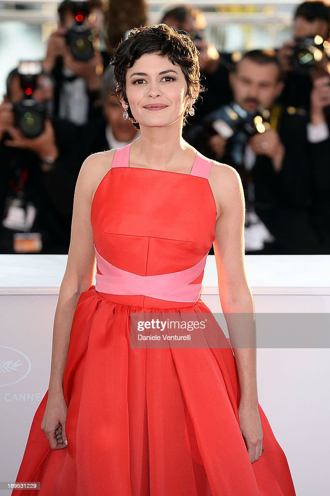 Actress and mistress of ceremonies Audrey Tautou at the Cannes Film Festival Audrey Tautou attends photocall for award winners during the 66th Annual Cannes Film Festival at Palais des Festivals on May 26, 2013 in Cannes, France.