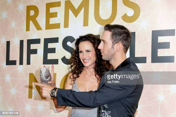 US actress and model Andie MacDowell and Marcel Remus attend the Remus Lifestyle Night on August 3 2017 in Palma de Mallorca Spain