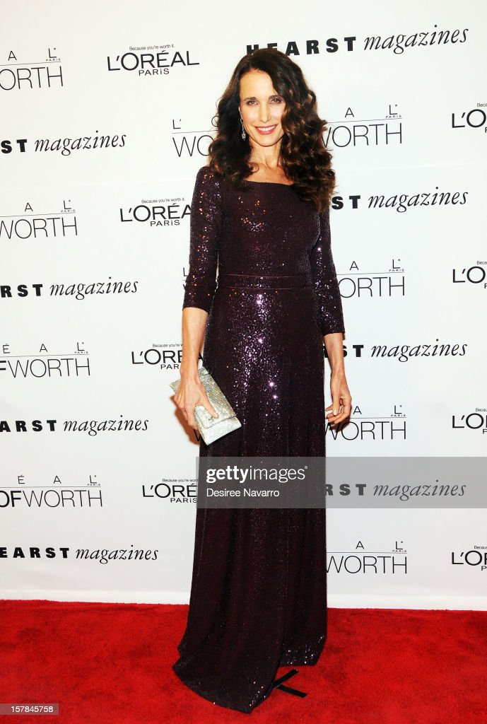 Actress and model Andie MacDowell attends the 7th annual Women of Worth Awards at Hearst Tower on December 6, 2012 in New York City.